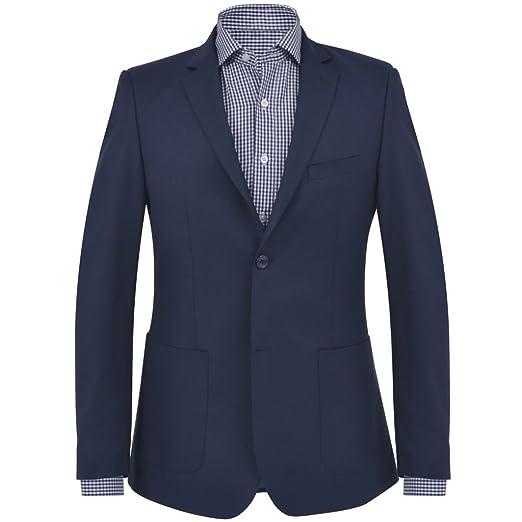Tidyard Chaqueta de Negocios Traje Suit para Hombre Azul ...