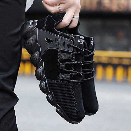 Scarpe Corsa Nero Uomo da Scamosciato SPEEDEVE Scarpe Ginnastica da Sneakers Casual 7qBzxzpdwv