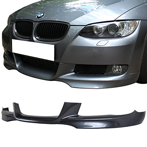 Pre-painted Front Bumper Lip Fits 2007-2010 BMW E92 E93 3 Series | M-Tech Style Painted Sparkling Graphite Metallic #A22 PP Air Dam Chin Protector Front Lip other color available by IKON MOTORSPORTS