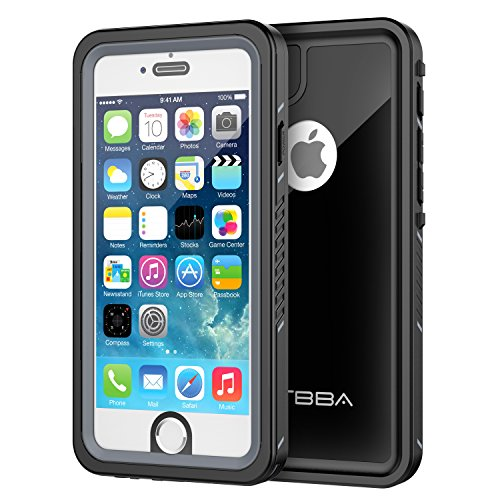 iPhone 6/6s Waterproof Case, OTBBA Sandproof IP68 Certified with Touch ID Shockproof Snowproof Full Body Cover for iPhone 6/6s (Black) (Heavy Multi Glitter)