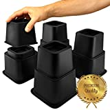 Home Intuition Heavy Duty Adjustable Bed Risers or Furniture Riser 3, 5 or 8-Inch, 4 Pack