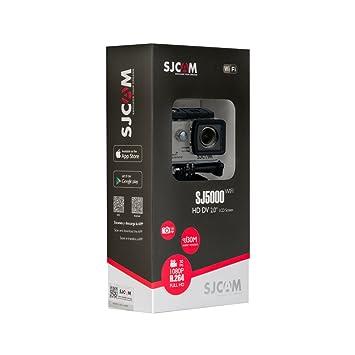 SJCam SJ5000 WiFi (versión española) - Videocámara deportiva (LCD 2.0, 1080p 30 fps, sumergible hasta 30 m) color plata