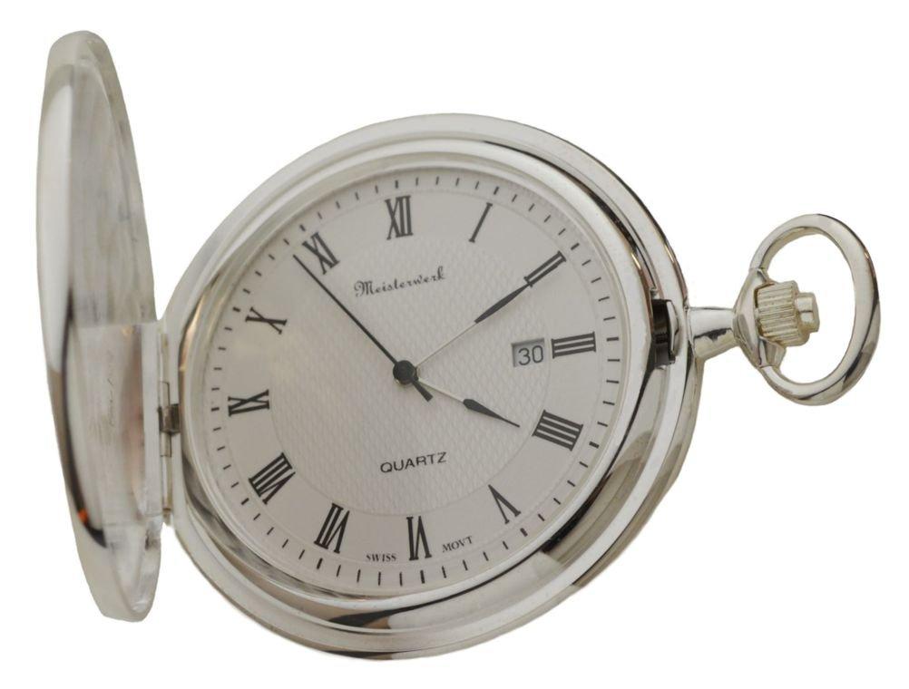 Personalized Meisterwerk Sterling Silver Pocket Watch S1955
