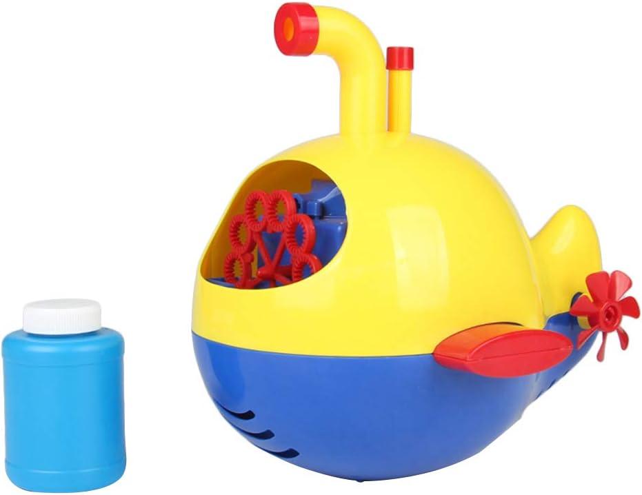 LIOOBO Máquina de burbujas con forma de submarino para hacer burbujas automáticas, juguete para niños y fiestas, sin batería