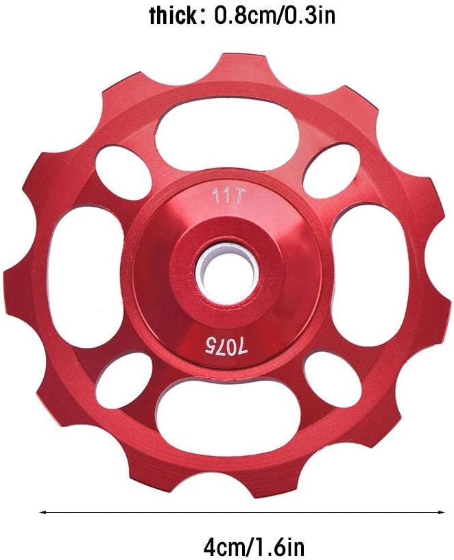 11T Jockey Wheel Rear Derailleur Pulley,Bike Rear Derailleur Pulley for Mountain Bike Bicycle Replacement Parts