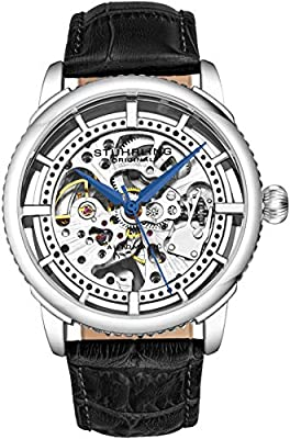 """Stuhrling Original Mens """"Specialty Winchester"""" Skeleton Automatic Self Winding Dress Watch With Premium Leather Band by Stuhrling Original"""