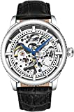 "Stuhrling Original Mens""Specialty Winchester"" Skeleton Automatic Self Winding Dress Watch with Premium Leather Band (Silver)"