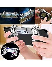 PUBG Mobile Controller,6 Button Mobile Game Controller Cellphone Game Sensitive Shoot Aim Keys L1 R1 Mobile Trigger for PUBG Gift for Kids (6 Finger)