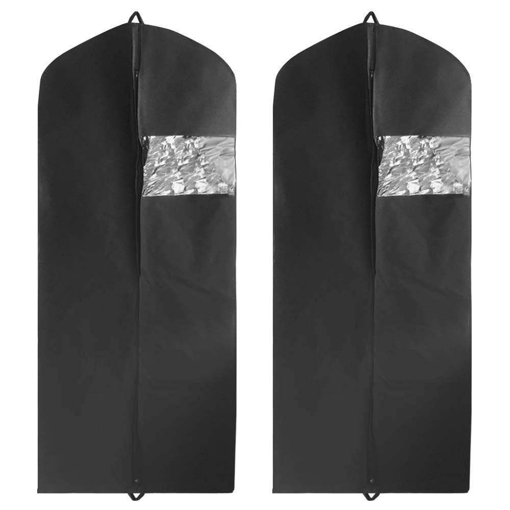 lavable traje cubierta ajuste para todos YuCool 2 unidades de bolsa de ropa con dos asas para almacenamiento y viajes DanziX Extra largo tama/ño 60 pulgadas transpirable bolsa protector anti polillas