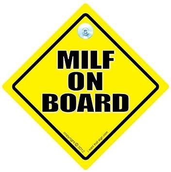 Milf on board car sign milf car sign car sign bumper sticker