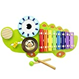 Image of Xylophone Musical Instrument Toy, Drum & Gong Toy, Learning Toys, Preschool Toys, Educational Toys for 1, 2, 3, 4 year olds + Toddlers, Kids, Crocodile Kids Percussion - iPlay, iLearn
