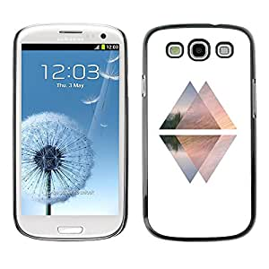 X-ray Impreso colorido protector duro espalda Funda piel de Shell para SAMSUNG Galaxy S3 III / i9300 / i747 - Pyramid White Black Up Down Elevator