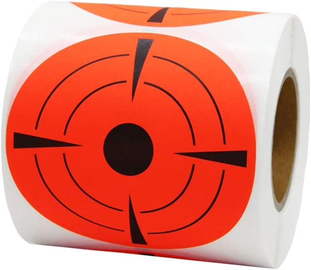 One Roll 2inch//3inch Target Sticker Self-adhesive Targets for Shooting Practice