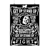 Bob Marley Quote Stand Fight Matte/Glossy Poster A3 (42cm x 30cm) | Wellcoda