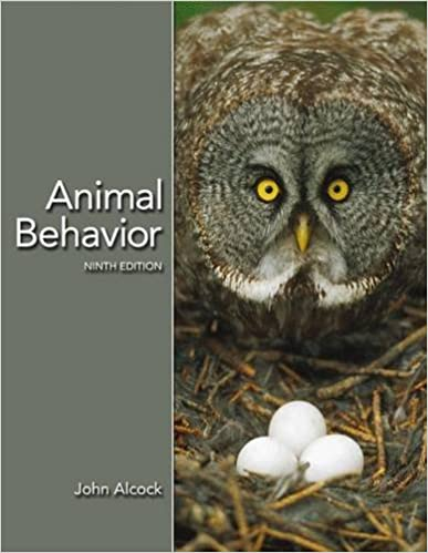 Animal behavior: an evolutionary approach: john alcock.
