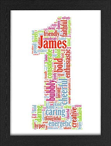 UPK Gifts 1st Birthday Personalised Gift Word Art Keepsake Any Age 1 16th 18th