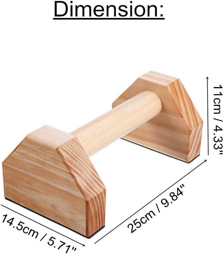 Moligh doll 1 Paar Paralletten Gymnastik Calisthenics Hand Stand Bar Holz Fitness Fitness Ger?Te Trainings Ausr/üStung Push-Ups Doppel Stangen St?Nder