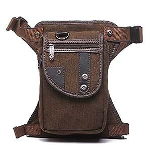 Outdoor Bag,Waist Bag,Drop Leg Bag,Thigh Backpacks, Motorcycle Costume Pouches,Brown Bag