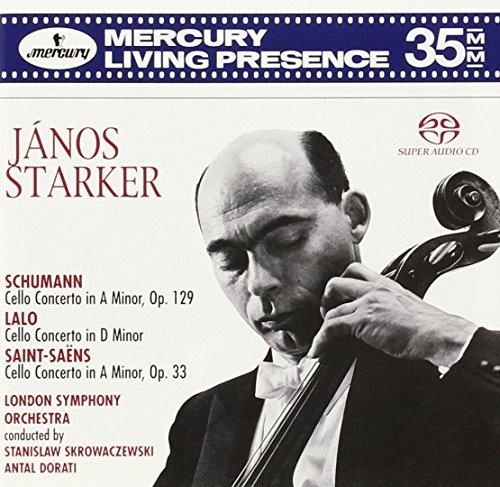 Janos Starker: Cello Concertos of Schumann, Lalo, Saint-Saëns [Hybrid SACD]