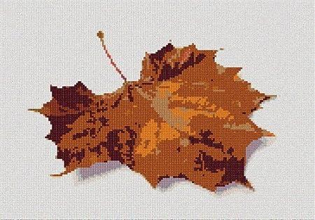 Needlepoint Kit Large pepita Fallen Leaf