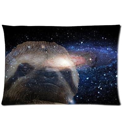 Houseware Art Sloth Nebula Galaxy Space Universe 04 100% Cotton Pillowcase Standard 20X30 (One Side) Pillow Cover - Houseware Art