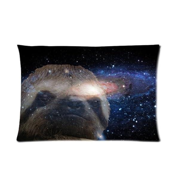Houseware Art Sloth Nebula Galaxy Space Universe 04 100% Cotton Pillowcase Standard 20X30 (One Side) Pillow Cover -