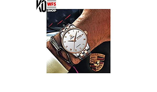 Amazon.com: KO-WFS Switzerland Mechanical Watch Men Brand Luxury Mens Automatic Watches Business Wrist Watch Male Waterproof Reloj Hombre (04): Cell Phones ...