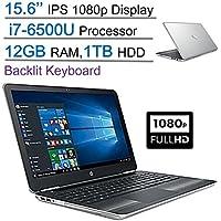 Edition HP Pavilion 15.6 IPS FHD (1920 x 1080) UWVA BrightView Display Laptop PC, Intel Core i7-6500U 2.5GHz, 12GB DDR4 SDRAM, 1TB HDD, Backlit Keyboard, DVD +/- RW, Windows 10-Silver