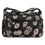 Multi Pocket Organizer Crossbody Bag Lightweight Travel Shoulder Handbag Nylon Waterproof Purse