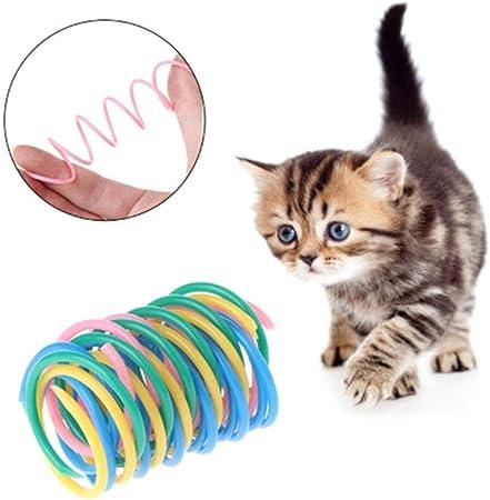 10 Juguetes Coloridos de Resorte para Gato, Bobina de plástico, resortes en Espiral, Juguetes interactivos duraderos, para Mascotas, Regalo para Gato o Gatito: Amazon.es: Hogar