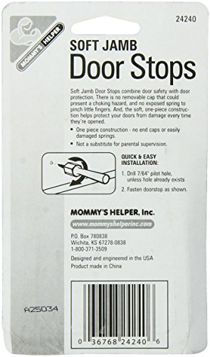 Mommys Helper Pack of 3 Soft Jamb Door Stops Blister, White