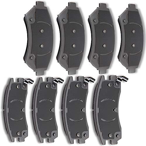 AUTOMUTO 8pcs Front Rear Ceramic Pads Brakes fit for Buick Lesabre,Buick Park Avenue,Cadillac DeVille,Buick Riviera,Cadillac Eldorado,Cadillac Seville,Oldsmobile ()