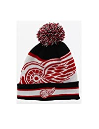 SPORTICUS NHL Boy's Detroit Red Wings Pom Pom Toque Size 8-16
