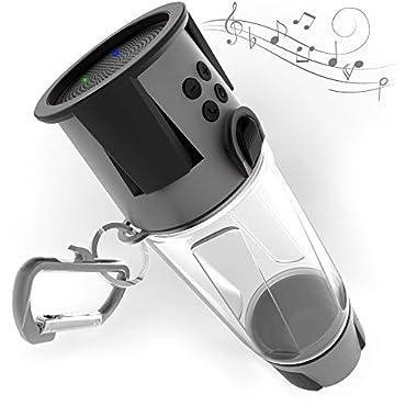 HYDRA SmartBottle Gray - 5W Bluetooth Speaker, 4000 mah Power Bank Charger, Speakerphone, Microphone, Emergency RGB LED Nightlight