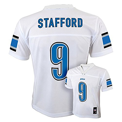 Matthew Stafford Detroit Lions #9 White Youth Mid Tier Jersey (Large 14/16)