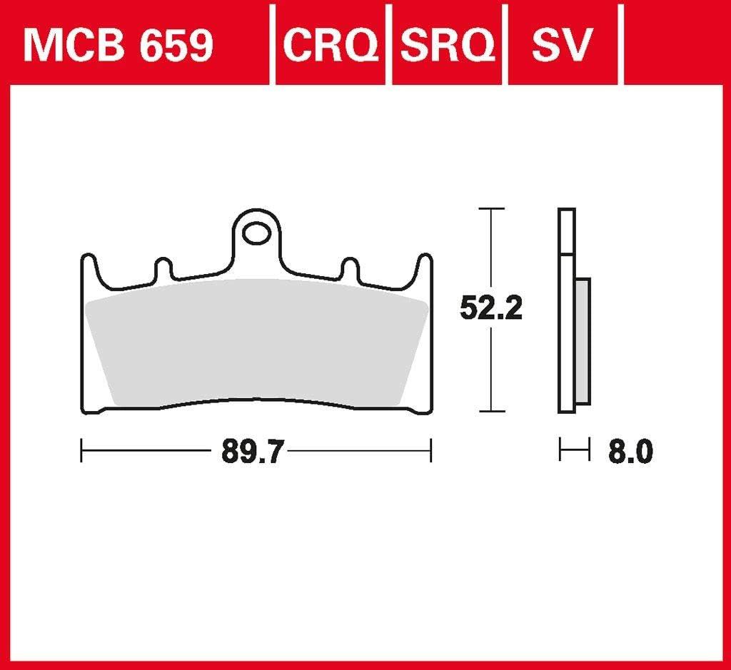 Bremsbelag TRW Sinter Rennsportbelag ZX-6R Ninja ZX636A 02 vorne 636