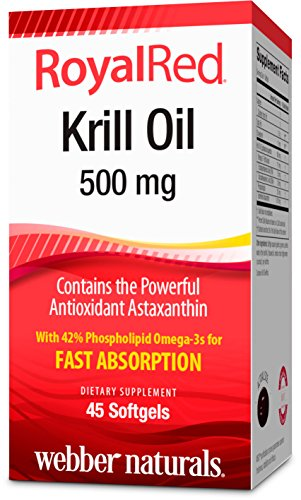 Webber Naturals Royalred Krill Oil, 45 Count