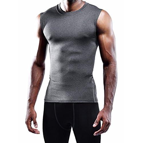 FULIER Hommes Coton Débardeur Gym Gym Gilet Sans Manches Vêtement