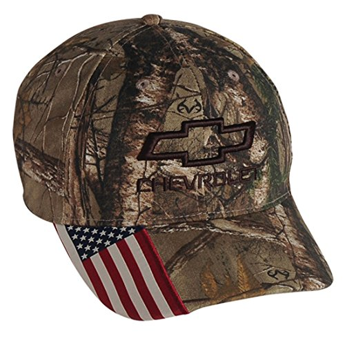 (Gregs Automotive Chevrolet Chevy Realtree Camo Camouflage USA Flag Hat Cap - Bundle with Driving Style Decal)