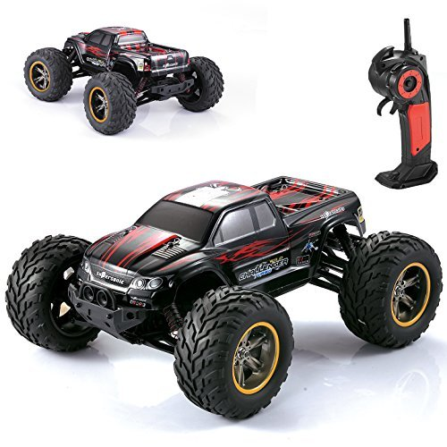 AMOSTING S911 35MPH 1/12 Scale 2.4GHz Remote Control Monster Truck - Red