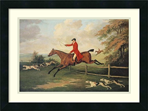 (Framed Wall Art Print | Home Wall Decor Art Prints | Fox Hunting Scene by J.n. Sartorius | Modern Decor)