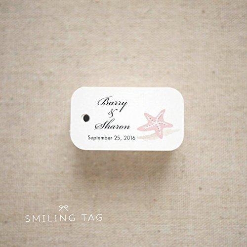 Starfish Tag - Beach seaside theme Wedding Favor Tags - Beach Gift Tags - Starfish Thank you tags - Beach Wedding Favor Tags - Set of 30 (Item code: J547)