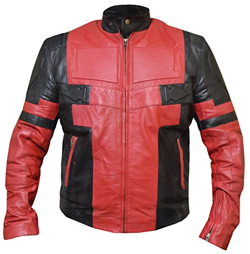 Deadpool Wade Wilson Ryan Reynolds Leather Jacket Leather, XL -