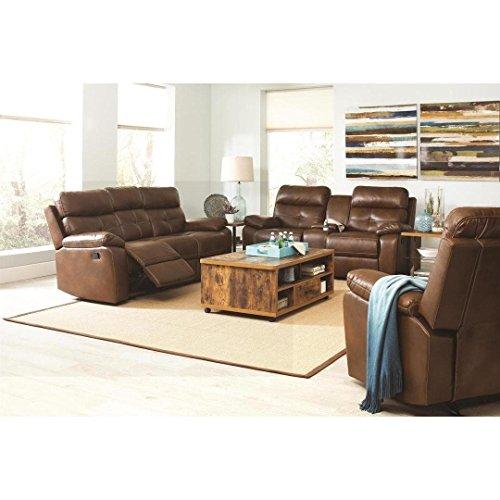 CDecor Barrick 3-piece Brown Living Room Set Barrick 3 Piece Brown Living Room Set
