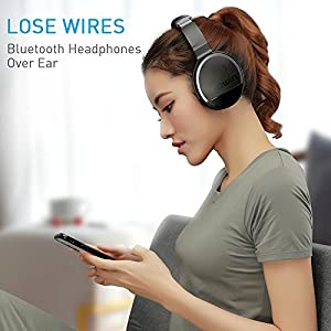 COWIN E8 Active Noise Cancelling Headphone Bluetooth Headphones with Microphone Hi-Fi Deep Bass Wireless Headphones Over Ear Stereo Sound 20 Hour Playtime for Travel Work TV Computer Phone -Silver