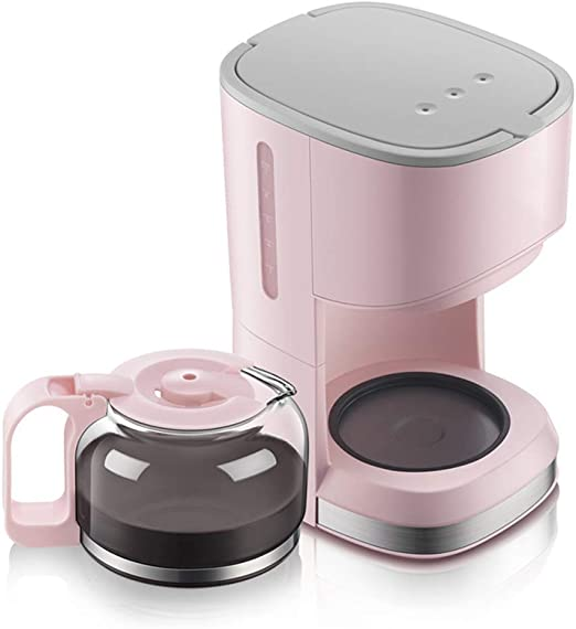 Amazon.com: Mini cafetera de 5 tazas, color rosa: Kitchen ...