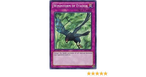 Yugioh Windstorm of Etaqua PCY-001 Limited Secret Rare Moderately Played Fast Sh
