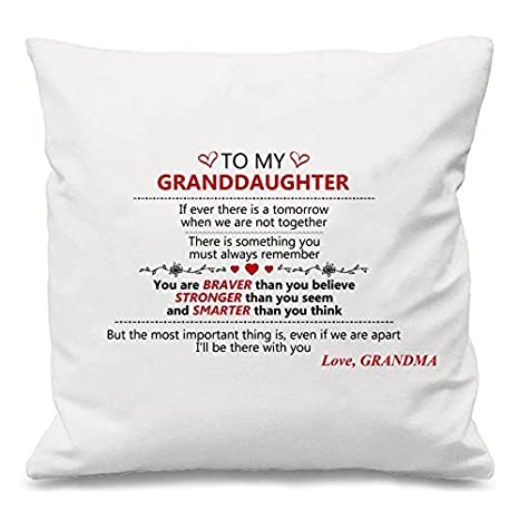 A mi abuela nieta regalo Custom Square Sofá Cojín Funda de ...
