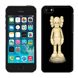 Fashionable And Unique Designed With Kaws iPhone Statue Cover Case For iPhone 5c Black Phone Case CR-333