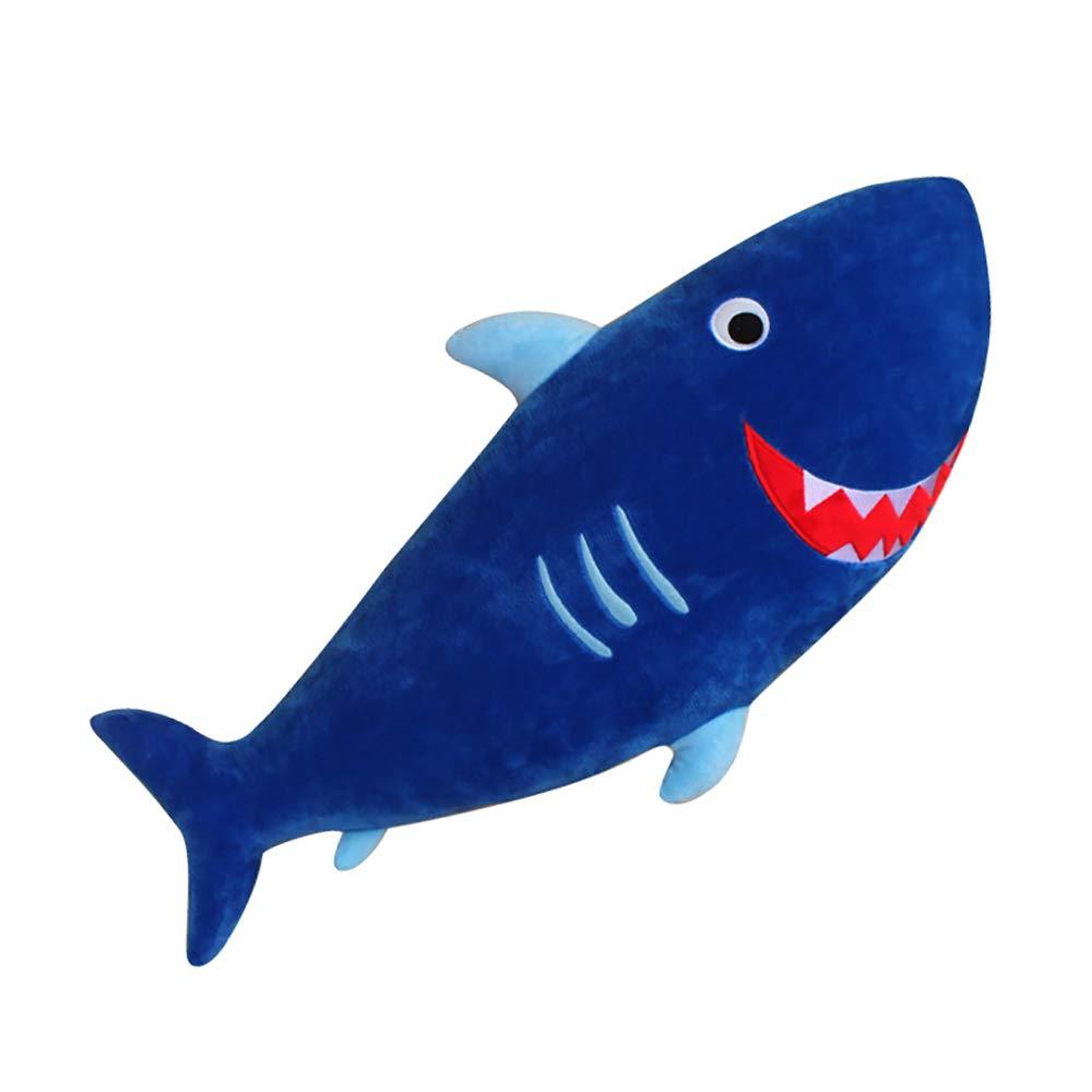 Cintura di sicurezza per bambini da polso di imbottiture per cinture, cartoon, peluche morbido cuscino auto copertura del cuscino decorazione auto cintura di sicurezza (Shark) KDSANSO